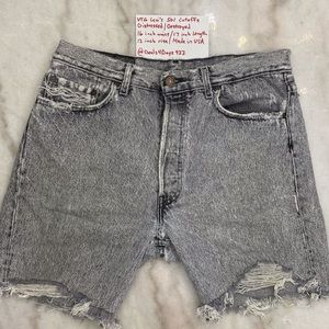 Vintage Levi's 501 High Waisted/High Rise Cutoff Shorts Distressed/Destroyed